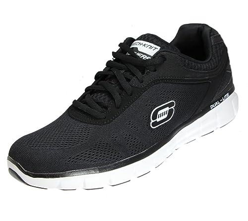 wholesale dealer 8bbab 32f5a Skechers Synergy Power Switch - Sneakers da Uomo, Nero (Schwarz, Weiß,  Silberfarben