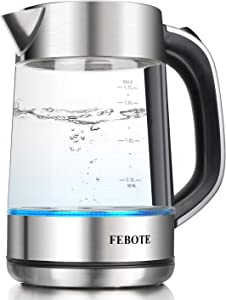 Amazon Giveaway FEBOTE Electric Glass Kettle