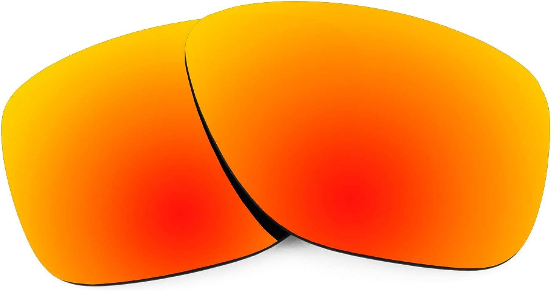 Revant Verres de Rechange pour Oakley Breadbox - Compatibles avec les Lunettes de Soleil Oakley Breadbox Rouge Feu Mirrorshield - Polarisés
