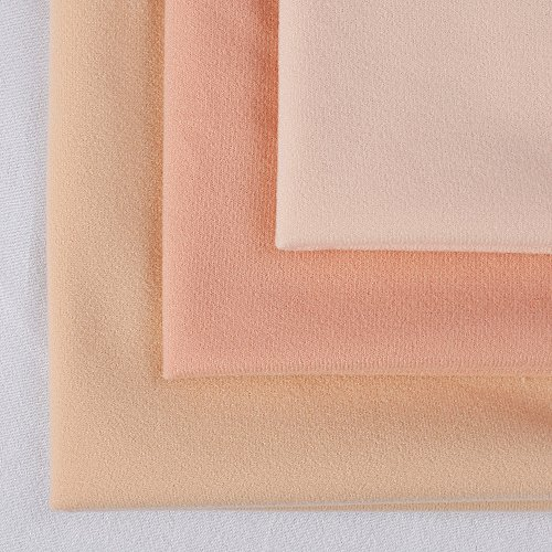 Thick Flesh-Colored DIY Doll Skin Fabric Fiber High-Density Nap for Doll Arms Face Size 50x50cm