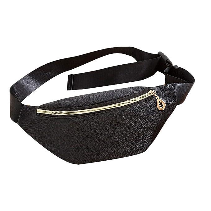 Amazon.com: Mochila de cintura para mujer, remaches, cintura ...