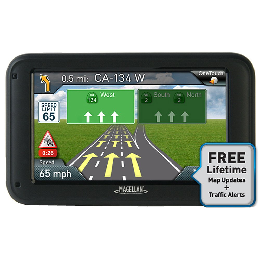 Magellan RoadMate 5255T-LM w/Lifetime Traffic & Lifetime Maps Back-Up Camera Compatible by Magellan B00FI20GDG