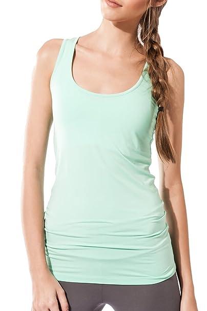 Sternitz Camiseta Fitness para Mujer, Maya Top, Ideal para Hacer Pilates, Yoga y