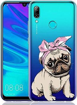 Yoedge Funda Huawei P Smart 2019, Ultra Slim Cárcasa Silicona Transparente con Dibujos Animados Diseño Patrón 360 Bumper Case Cover para Huawei P Smart 2019 Smartphone (Perro): Amazon.es: Electrónica
