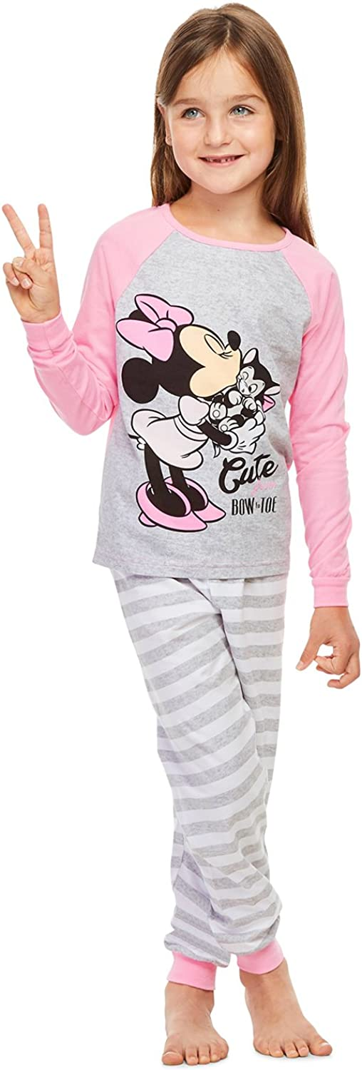 Girls 2-Piece Cotton Pajama Set Top /& Jogger Pants