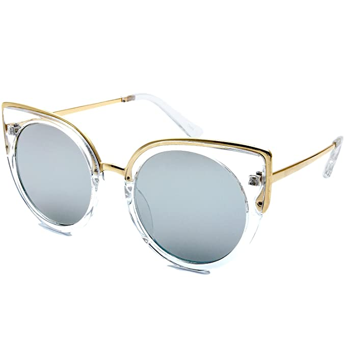 Amazon.com: La nueva moda retro Cat Eye marco lente plana ...