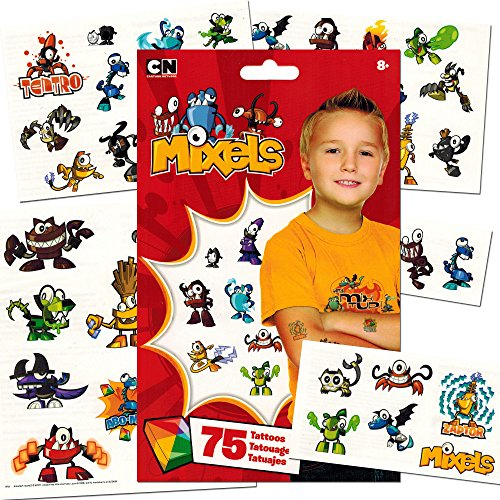 Lego Mixels Temporary Tattoos 75 count - Party Favors / Rewa