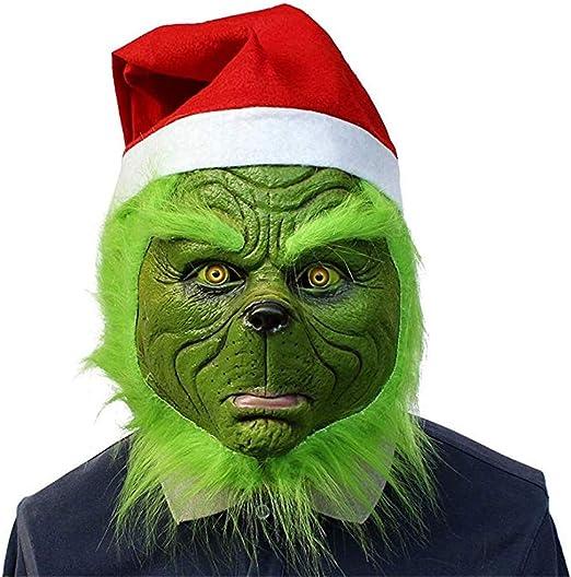 YBBGHH Monstruo Verde Grinch Máscara Divertida Navidad Cosplay ...