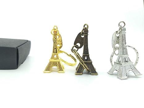 Combo de Tres Colores Llavero Torre Eiffel: Amazon.es: Equipaje