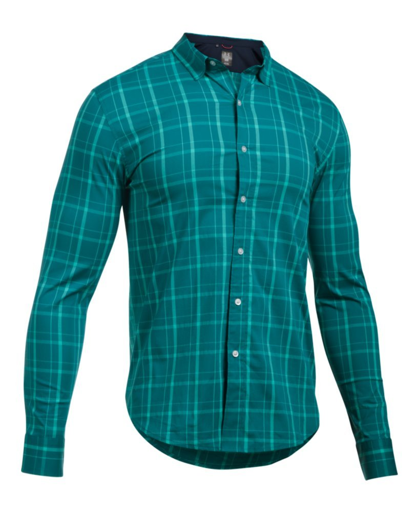 Under Armour Men's Performance Woven Shirt, Turquoise Sky (158)/Turquoise Sky, Small by Under Armour (Image #4)