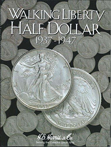 H.E. Harris Harris Coin Folder - Liberty Walking Half Dollars #2 1937-1947 #8HRS2694