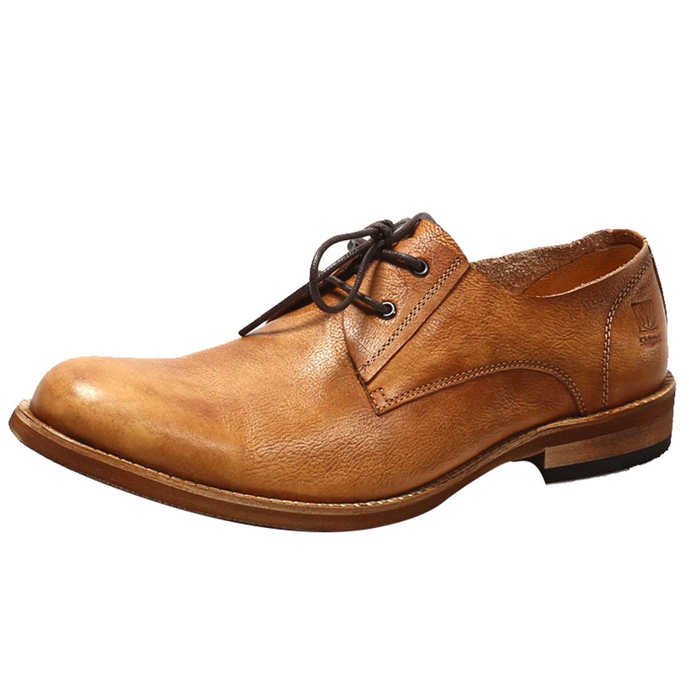 LEFT&RIGHT Leder Britischen Stil Lederschuhe Oxfords Derby Für Mann, Leder LEFT&RIGHT Freizeitschuhe Flache Kleid Schuhe 8c8c29