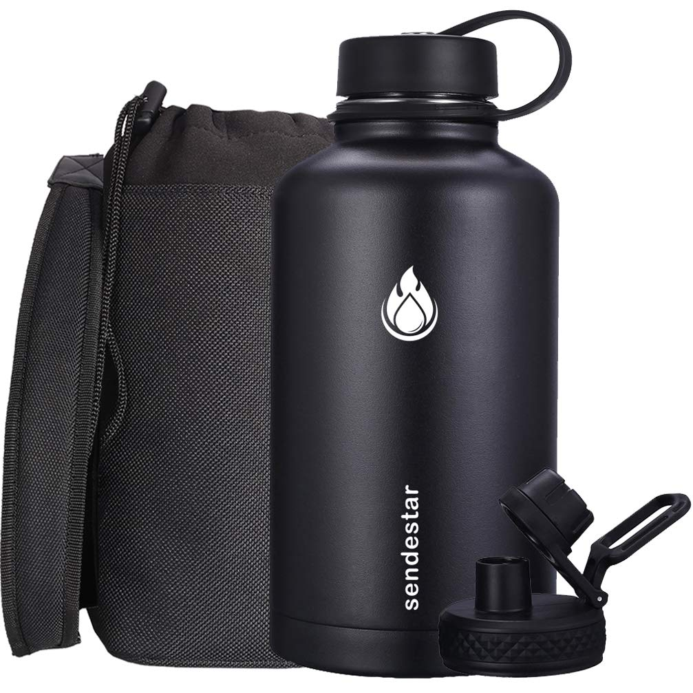 Sendestar Water Bottle Sleeve//Pouch with Adjustable Shoulder Strap for The 64 Oz Wide Mouth Water Bottle