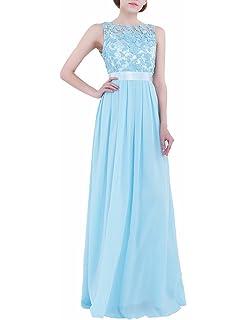iiniim Mujer Vestido Largo Floreado de Fiesta Boda Dama de Honor de Novia Elegente Vestido Vintage