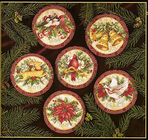 (KathShop Lovely Counted Cross Stitch Kit Old World Holiday Ornaments Ornament dim)