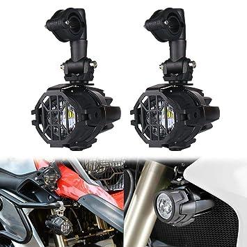 Faros auxiliares de moto,Luces de niebla de la motocicleta LED,Lámparas Auxiliares 40W