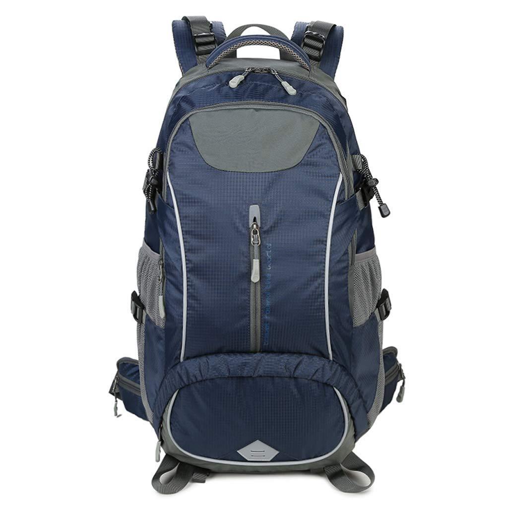 キャンプ登山バッグアウトドアハイキングキャンプバックパックぶら下げキャリングシステム男性と女性ソフトバッグ50リットルでレインカバーマルチカラーオプション (色 : 濃紺) B07PJNCDYF 濃紺