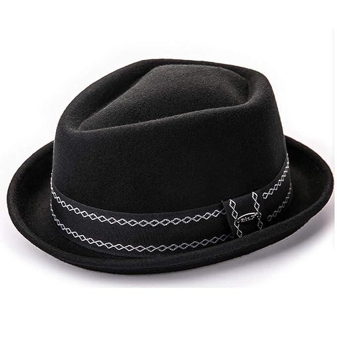 5274d961e1a74 Amazon.com  Women Bowler Hat Men Woolen Fedora Vintage Short Brim ...