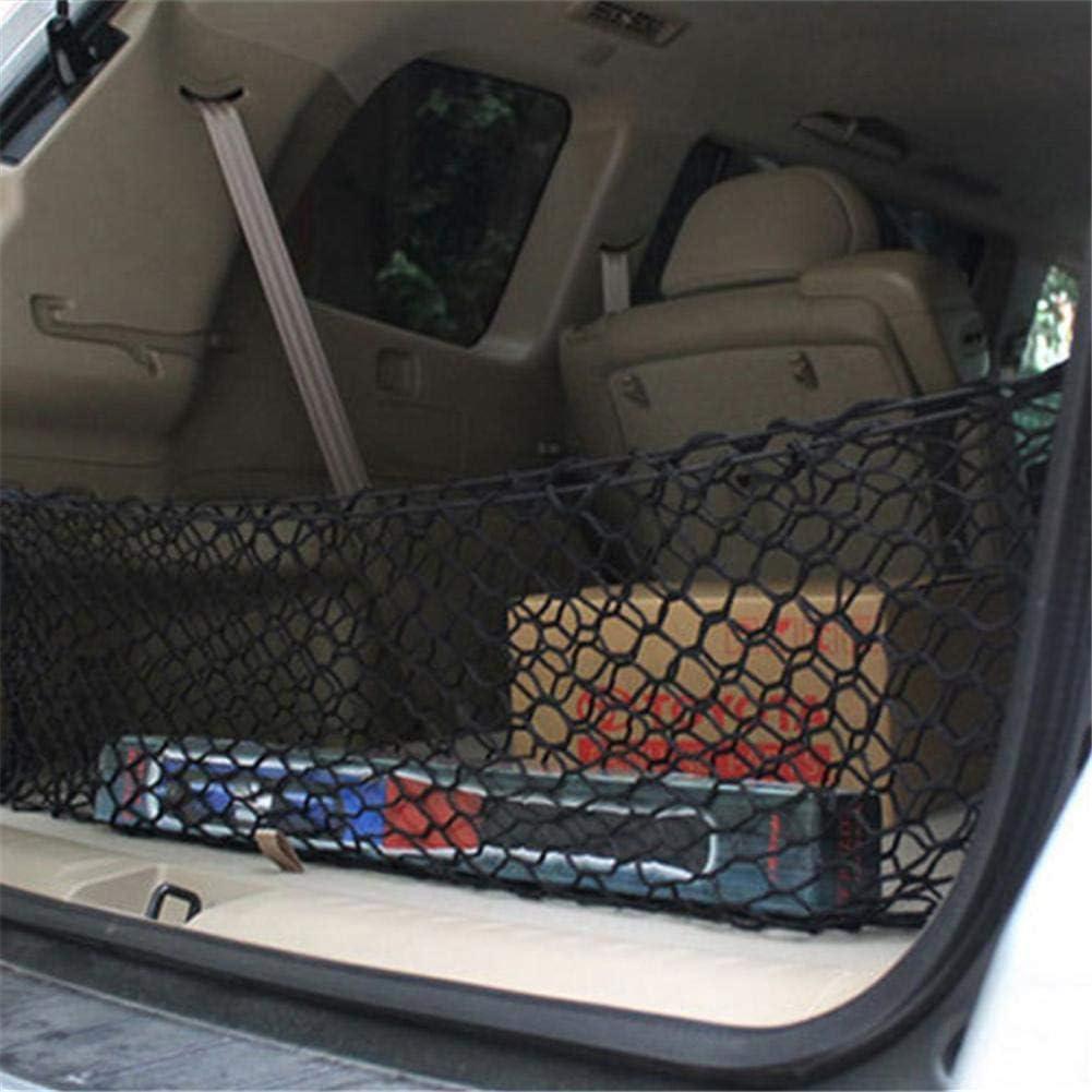 f/ür Car Van Pickup SUV mit 4 Haken Auto Kofferraum Aufbewahrung Netz Rubyu Universal Auto Netz Flexibler Elastischer Nylon Gep/äckraum Organizer 30 x 90CM