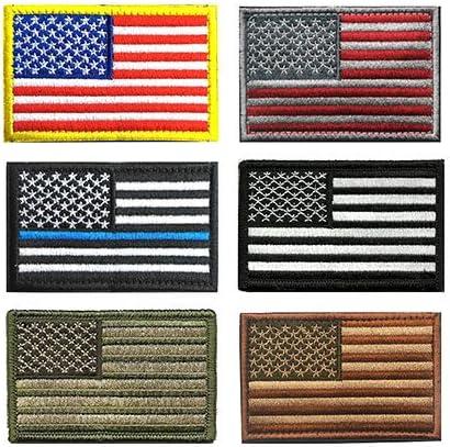 Tactical parche de Estados Unidos, antrix 6 Pack nosotros bandera delgada línea azul bandera del ejército estadounidense bandera totalmente bordado Tactical moral Velcro parches: Amazon.es: Juguetes y juegos