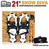 New MTN Man Woman Kid Youth 21 black Snowshoes+Nordic pole+ Free Bag by MTN Snowshoes