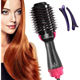 One Step Hair Dryer & Volumizer, AmyHomie Hot Air Brush 3-IN-1 Negative Ions Hair Dryer, Curler and Straightener for All Hair Types