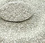 Silver Imported German Glass Glitter - 4 Ounce Bag - Fine 90 Grit (Most Popular Grain Size) Sparkly Glass Glitter - 311-9-SL