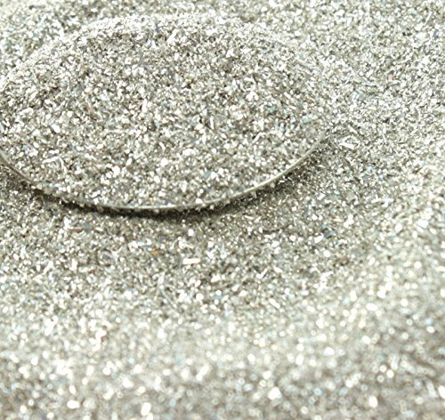 Silver Imported German Glass Glitter - 4 Ounce Bag - Fine 90 Grit (Most Popular Grain Size) Sparkly Glass Glitter - 311-9-SL by Meyer Imports