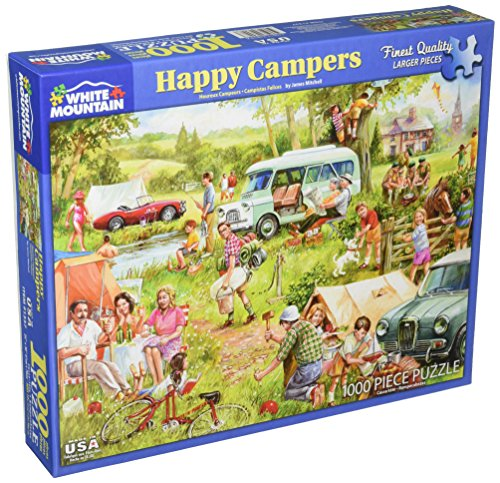 White Mountain Puzzles Happy Campers - 1000Piece Jigsaw Puzzle