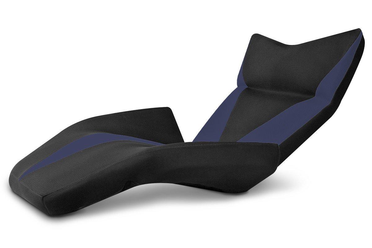 座椅子型リクライニングソファ マンボウソファ デルタV 14段ギア メッシュ生地 ネイビー B00ANHRNDM ネイビー
