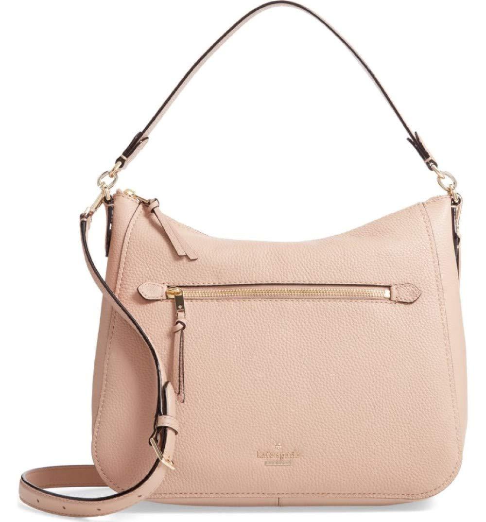 Kate Spade New York Jackson Street Quincy Gingertea Finely Pebbled Leather Hobo Shoulder Bag