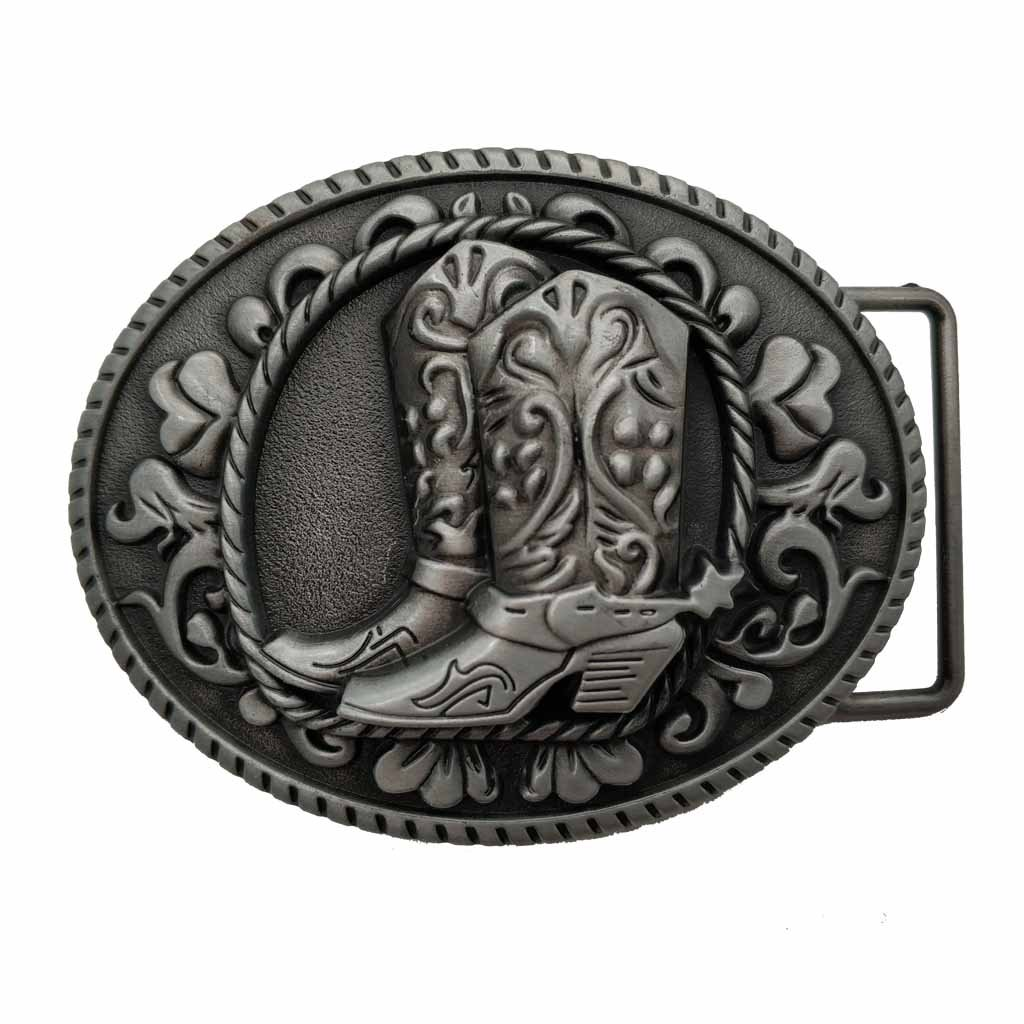 YONE Fibbia per Cinture Cowboy Spur Boots Western Rodeo Belt Buckle