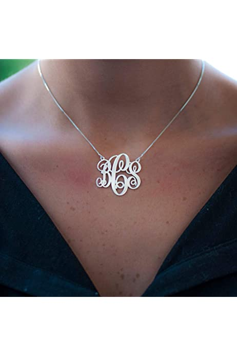Initial necklace Branch necklace Silver necklace,Monogram Necklace,Christmas gift,tmj00039 Personalized necklace Birds necklace