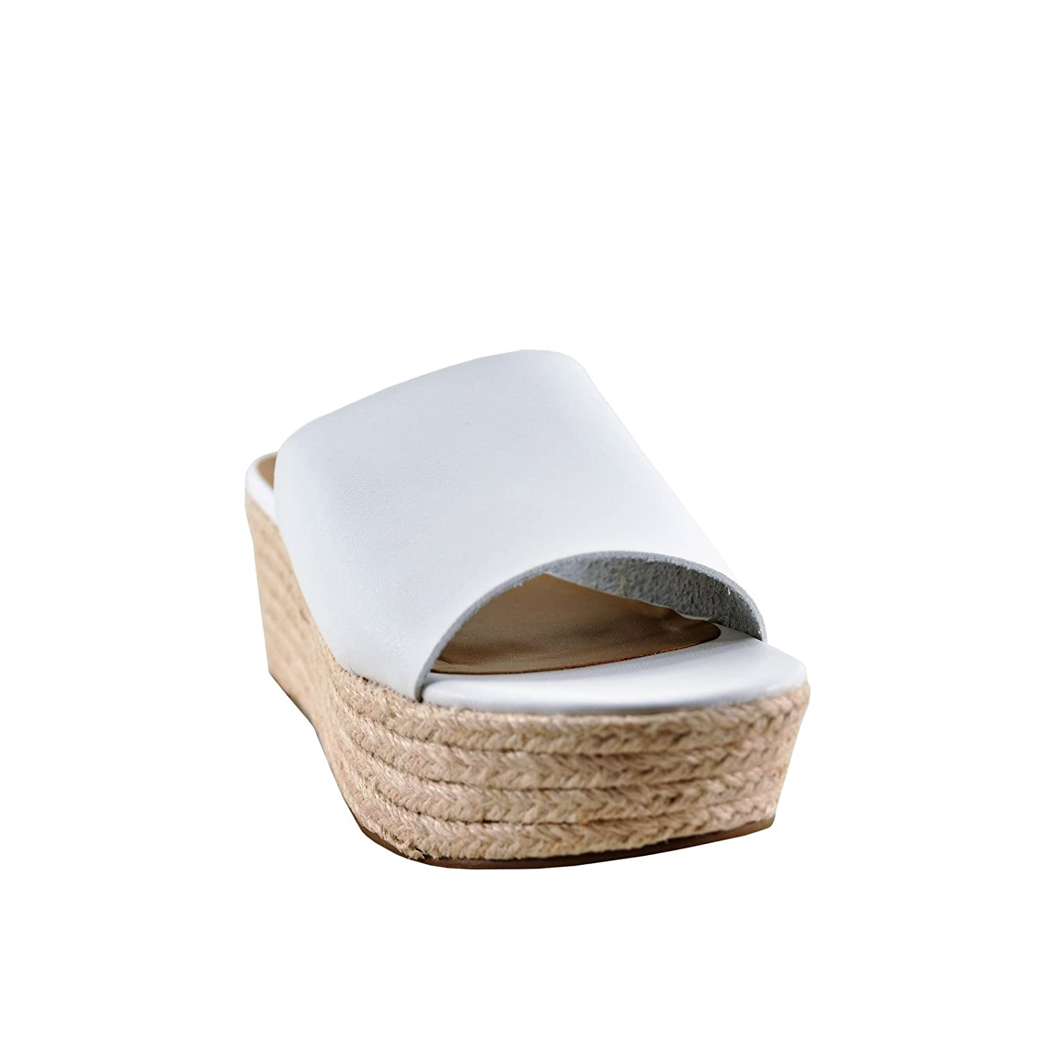 City Classified Strauss Women's Jute Wrapped Open Toe Wedge B07D5W8V9Y 6 B(M) US|White