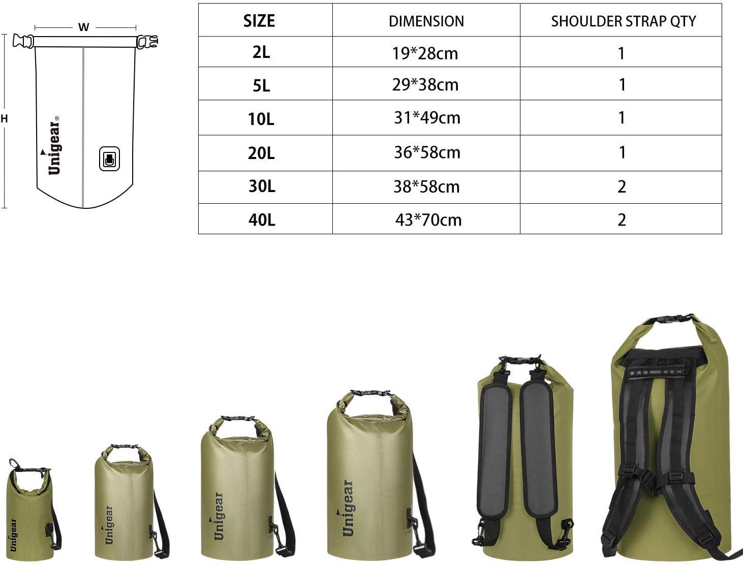 Funda De Mov/íl Camping Playa Unigear Bolsa Estanca 2L~40L Seca Impermeable