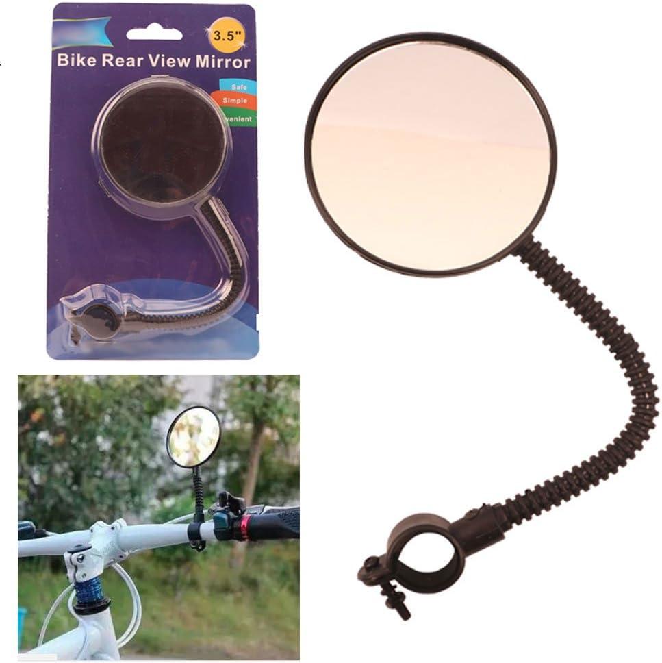 Bike Rear View Mirror Flexible Bicycle Handlebar Glass Cycling Blind Spot Safety
