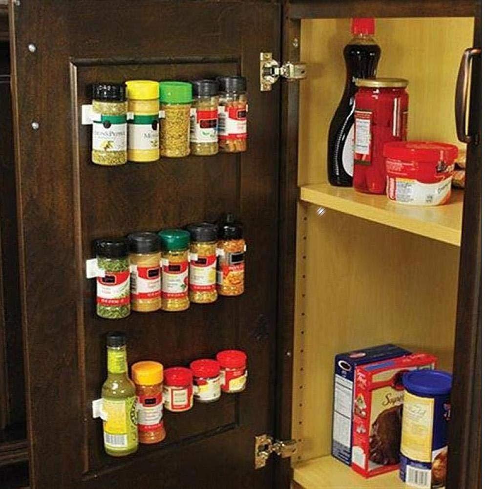 Set Clip N Tienda Principal Organizador De La Cocina De La Especia Wall Rack De Almacenamiento Pinza LUCYPAPASHOW 4pcs