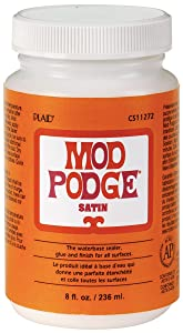 Mod Podge CS11272 Waterbase Sealer, Glue and Finish, Satin, 8 Ounce
