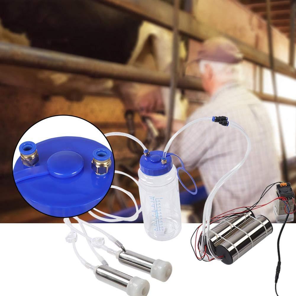 El ganado M/áquina de orde/ño el/éctrica de 2L Ganado port/átil Vaca orde/ñadora Cabra de impulso Ovejas Ovejas Equipo de orde/ño de orde/ñadora Bomba de lactancia con 2 bombas para el hogar Granja peque/ña