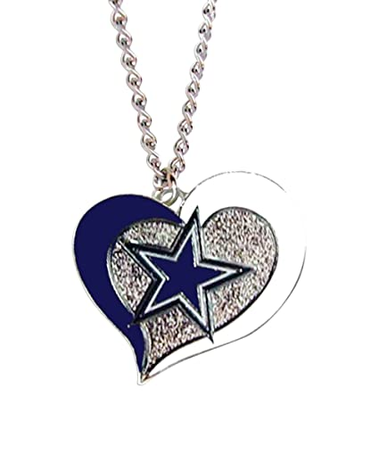 Amazon aminco nfl swirl heart necklace dallas cowboys sports aminco nfl swirl heart necklace dallas cowboys aloadofball Gallery