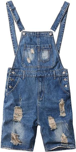 shopping denim Bib Overalls Shorts Mens Dungaree Shorts in Denim Slim Fit