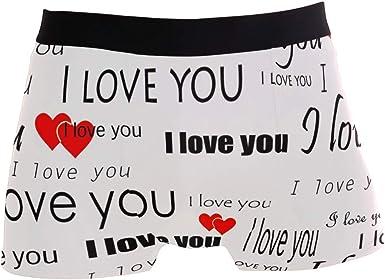SUABO Mens 2-Pack Boxer Briefs Polyester Underwear Trunk Underwear with Retro Pattern Design