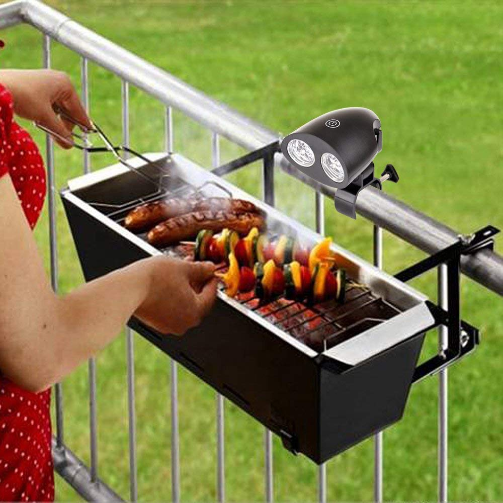 Fits Most Grill Handles,Touch Switch Kohree Bright Barbecue Grill Light Handle Mount BBQ Light for Grilling,10 LED Lights Renewed Easy to Install Adjustable Screwdriver Included