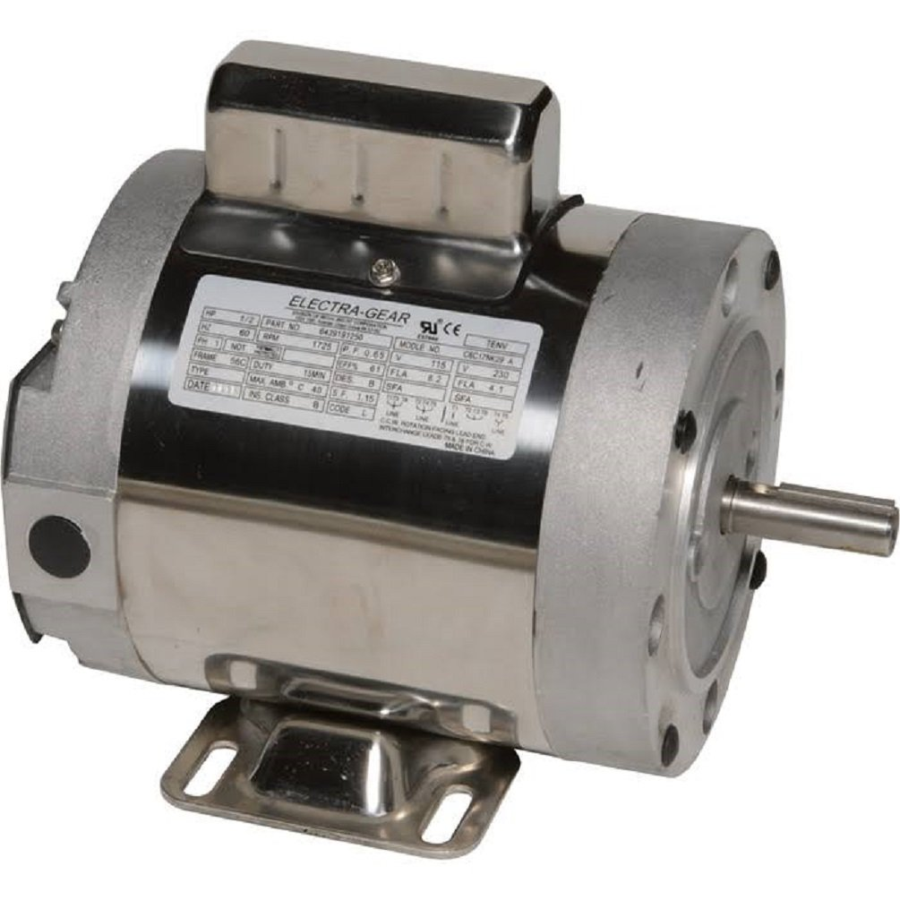 Leeson 6439191253 Boat Hoist Motor, 1 Phase, 56C Frame, Rigid C Mounting, 1 1/2HP, 1800 RPM, 115/208-230V Voltage, 60Hz Fequency