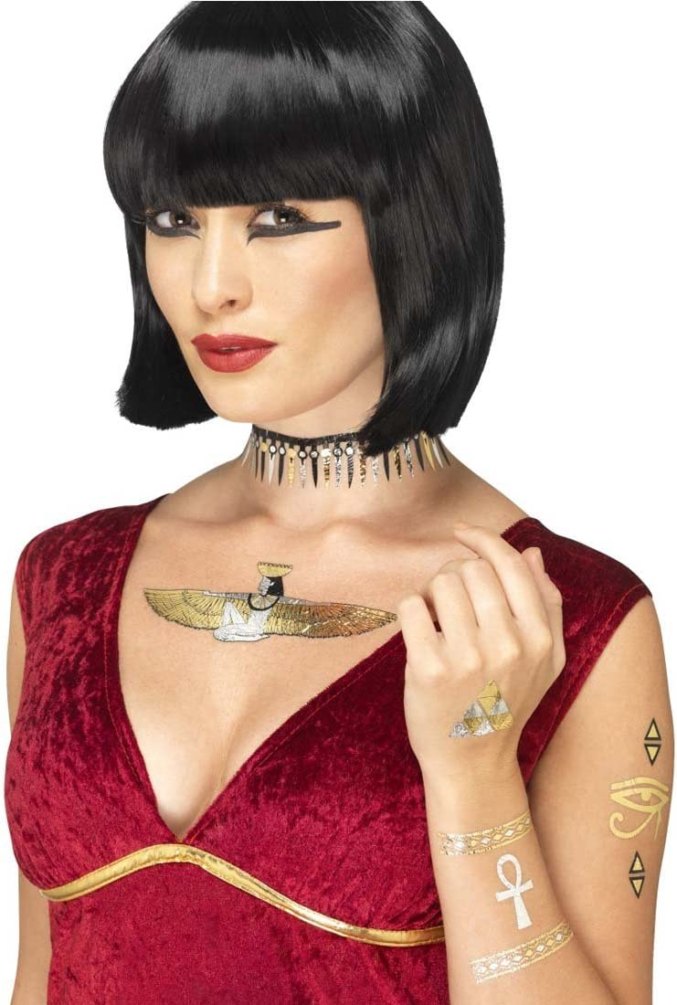 NET TOYS Pegatinas egipcias Tatuaje Temporal Egipto Metálico ...