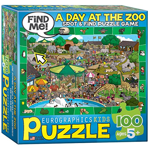 - A Day at the Zoo - Spot and Find Puzzle, 100-Piece