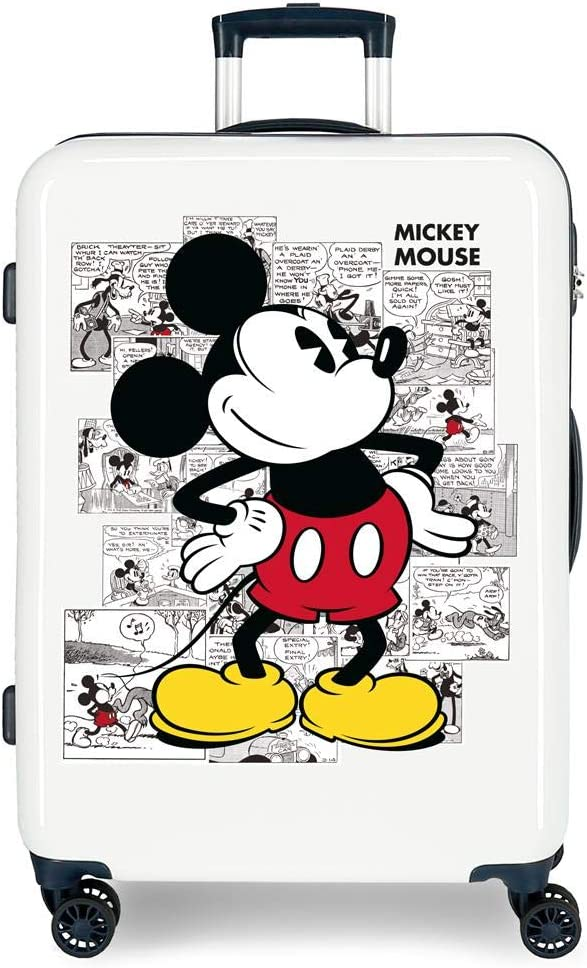 Maleta Mediana Mickey Comic rígida 68cm