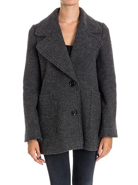 CARACTERE Cappotto Donna 8707A0829241 Lana Grigio  Amazon.it  Abbigliamento 2a7a46dfd5a8