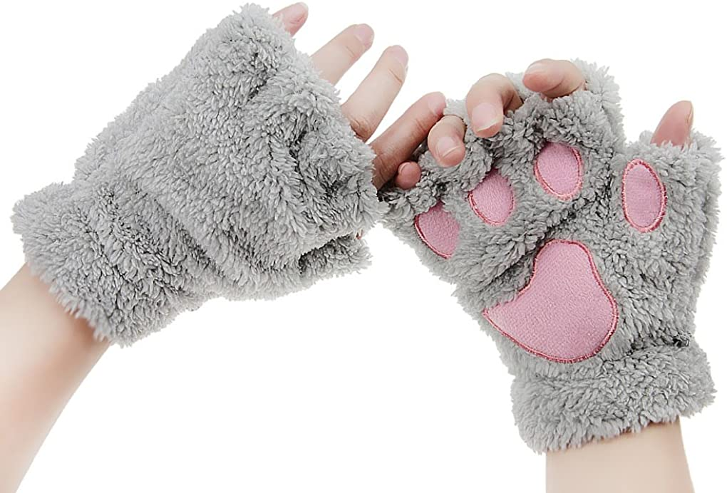 Unisex Halloween Cosplay Gloves Animal Costume Dinasour Cat Paw Claw Wolf Gloves