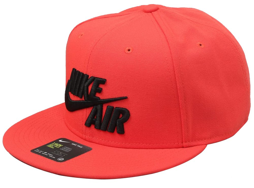 NIKE Heritage Air True Adult Unisex Snapback Hat Cap Red/Black 805063-602 (Size os)